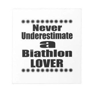 Underskatta aldrig Biathlonälskare Anteckningsblock