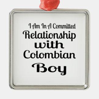 Underskatta aldrig den colombianska pappan julgransprydnad metall