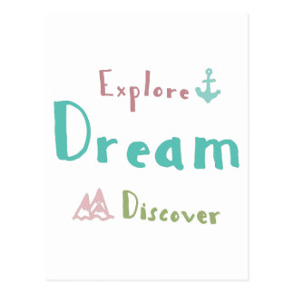 Undersök drömmen upptäcker vykort