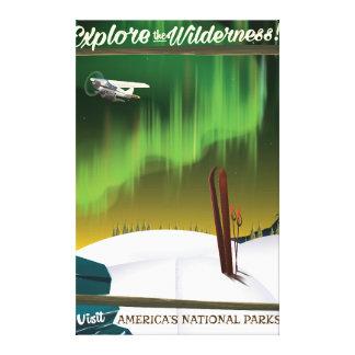 Undersök vildmarken USA skidar reser affischen Canvastryck