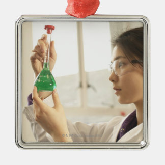 Undersökande flytande för forskare i dryckeskärl julgransprydnad metall
