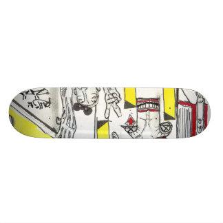 Undersökande tumnaglar skateboards