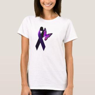 Understödja epilepsimedvetenhet för purpurfärgat tee shirts