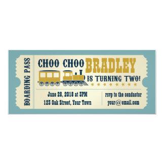 Understödja inbjudan för födelsedagtågbiljetten