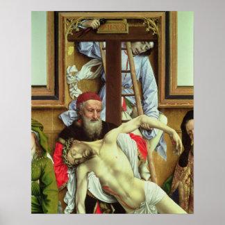 Understödja Joseph av Arimathea den döda Kristus Poster
