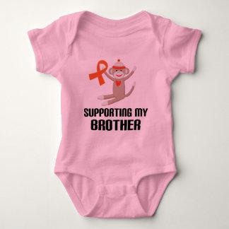 Understödja mitt orange medvetenhetband för broder tröja