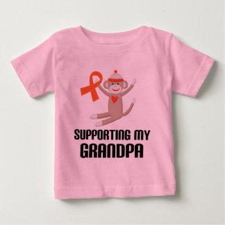 Understödja mitt orange medvetenhetband för morfar tröjor