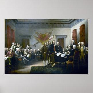Underteckna förklaringen av självständighet poster
