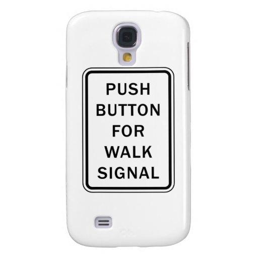 Underteckna - tryckknappen för går signalerar