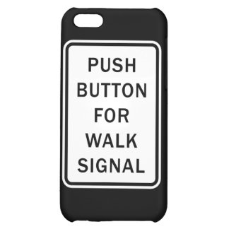 Underteckna - tryckknappen för går signalerar iPhone 5C mobil skal