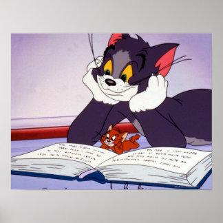 Undertecknad Tom och Jerry läs- bok Poster