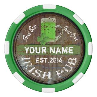 Undertecknar den irländska puben för personligen poker marker