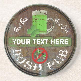 Undertecknar den irländska puben för personligen underlägg sandsten