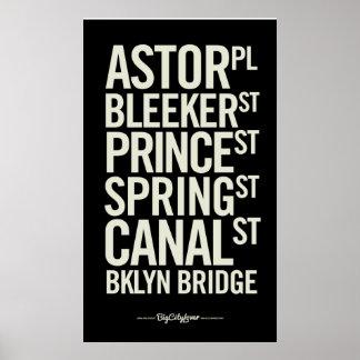 Undertecknar den moderna tunnelbanan för BCL affis Affisch