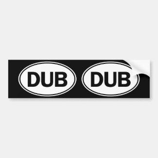 Undertecknar den ovala identiteten för DUBEN Bildekal