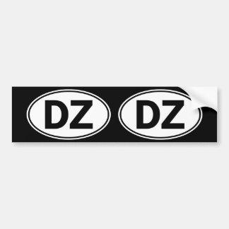 Undertecknar den ovala identiteten för DZ Bildekal