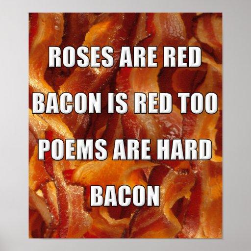 Undertecknar den roliga affischen för bacondikt posters