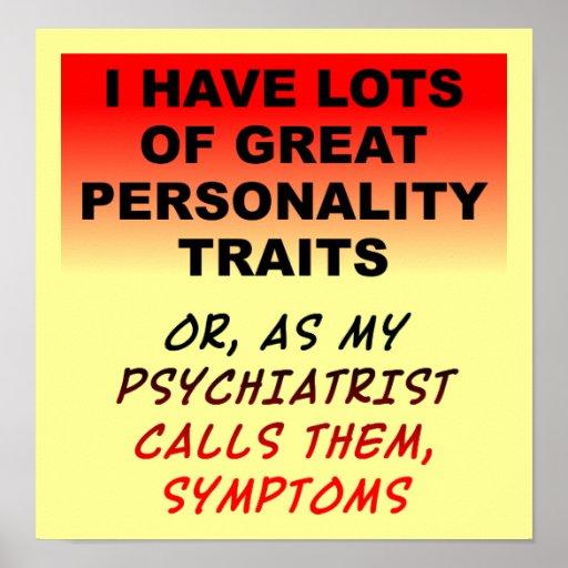 Undertecknar den roliga affischen för personlighet affischer