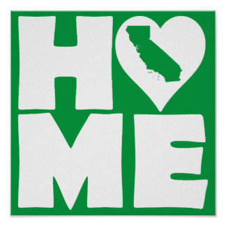 Undertecknar den statliga affischen Kalifornien Poster