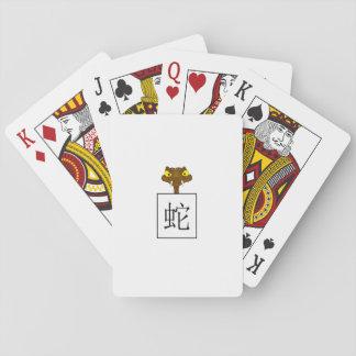 """Undertecknar kinesisk zodiac """"för ormen"""" casinokort"""