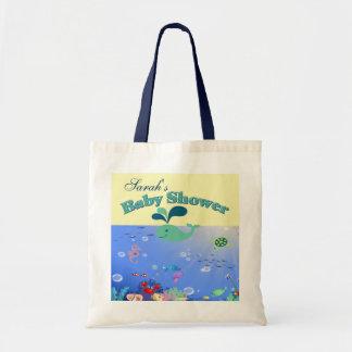 Undervattens- äventyrbaby showerpojke eller flicka tote bags