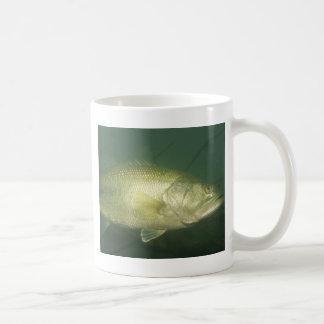 undervattens- bas- fiskeplats kaffemugg