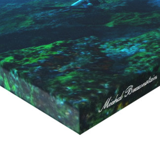 Undervattens- Fernando de Noronha, Brasilien - kan Canvastryck