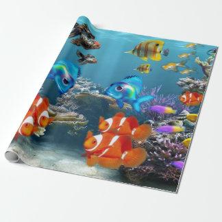Undervattens- fisksjölivdjur presentpapper