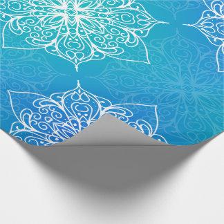 Undervattens- Mandalamönster för blått Presentpapper