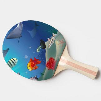 Undervattens- plats pingisracket