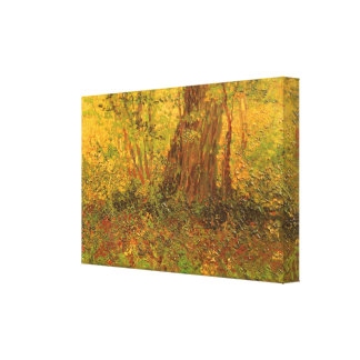 Undervegetation av Vincent Van Gogh, vintagekonst Canvastryck