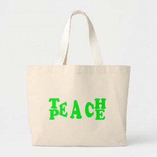 Undervisa fred i ljust - den gröna stilsorten jumbo tygkasse