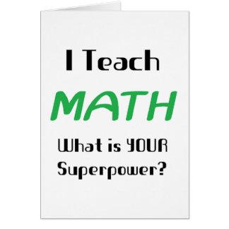 Undervisa math hälsningskort