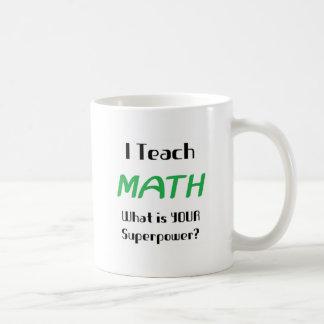 Undervisa math vit mugg