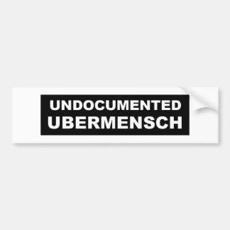 """Undocumented Ubermensch 11"""" x3 """", Bildekal"""