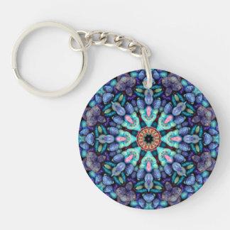 Undra akryl Keychains, 6 stilar för sten Dubbelsidigt Rund Akryl Nyckelring