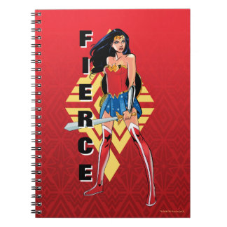 Undra kvinna med det våldsamma svärd - anteckningsbok