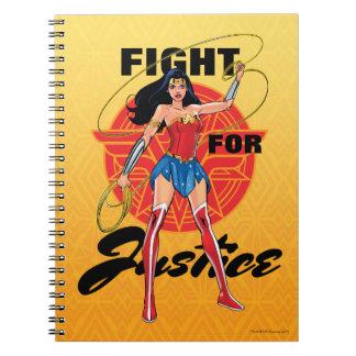 Undra kvinna med lassoen - slagsmål för rättvisa anteckningsbok