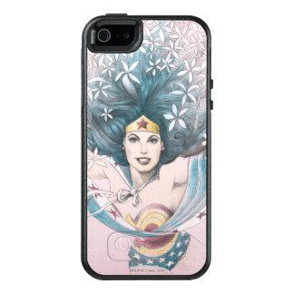 Undra kvinna och blommor OtterBox iPhone 5/5s/SE skal
