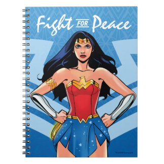 Undra kvinna - slagsmål för fred anteckningsbok med spiral