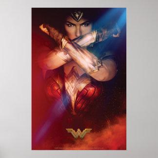 Wonder Woman Blocking With Bracelets