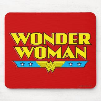 Undra kvinnanamn och logotyp musmatta