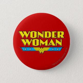 Undra kvinnanamn och logotyp standard knapp rund 5.7 cm