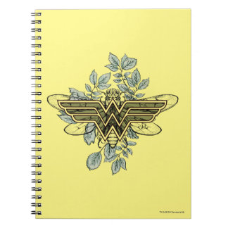 Undra logotyp för kvinnadrottningbi anteckningsbok med spiral