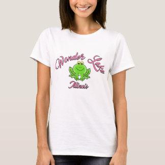 Undra rosa kvinna för groda grundläggande T-tröja Tee