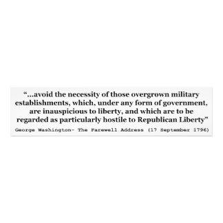 Undvik bevuxna militära etableringar Washington Fotografiskt Tryck