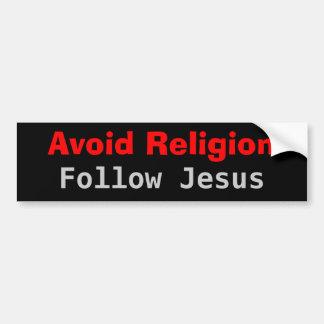 Undvik religionen följer Jesus Bildekal