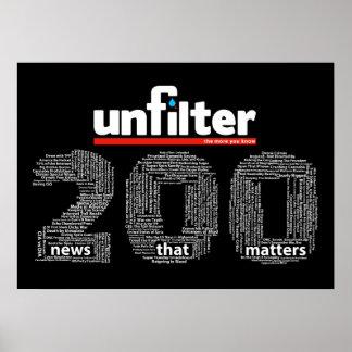 Unfilter 200 affisch poster