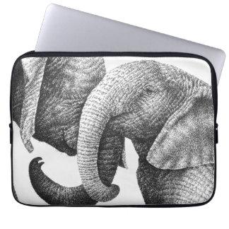 Ung afrikansk elefantelektronik hänger lös laptop sleeve