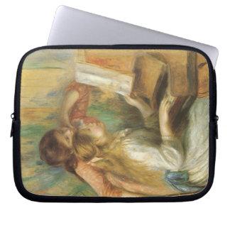 Ung flicka på pianot av Pierre Renoir Laptop Fodral